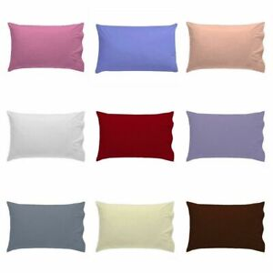 Cot Bed Pillow Pair Case For Baby Toddler - Poly Cotton Pillow Cover 40 x 60 cm
