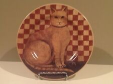 2004 Sakura Country Kittens Salad Plate David Carter Brown #3 Calico Cat