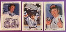 Wayne Gretzky UD 2008-9 Masterpieces trio # 20, 38, & 78 all excellent condition
