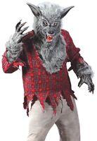 WereWolf Costume Adult Silver Gray Deluxe Cosplay Were Wolf WareWolf - Fast Ship