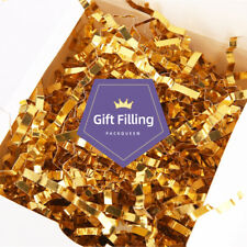 Crinkle Cut Paper Shred Filler, Metallic Gold Shredded Paper for Gift Boxes 1 L