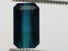 Fine 4.7 Carat Multi-Colored Blue/Black Kunar Tourmaline; VVS No Enhancements