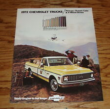 1972 Chevrolet Truck Pickup 4-Wheel Drive Chassis Cab Sales Brochure 72 Chevy