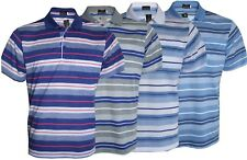 Mens T-Shirts Loose Fit Pique Polo Striped Polycotton 1903 Top Casual M to 5XL