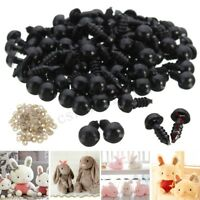 100Pcs 8mm Black Plastic Safety Eyes For Toy Teddy Puppets Dolls Crafts DIY