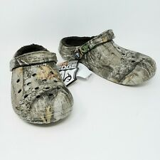 Crocs Unisex Classic Lined Realtree Edge Clog Camouflage Brown Mens 9 Womens 11