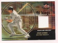 2002 Fleer Triple Crown Jersey Jason Giambi New York Yankees