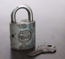 1940's Old Antique Beautiful Handmade Small TIGER 555 Marked Iron Pad Lock #914