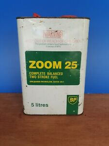 "Vintage ""BP ZOOM"" Petrol & Oil Tin - Great Condition Nice Colour Suit Collection"