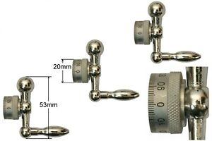 22511 GG-Tools Kugelkurbeln mit verstellbare Skalenringe für Unimat & SIEG C0
