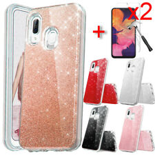 For Samsung Galaxy A20S A10E Case Glitter Bling Phone Cover HD Screen Protector