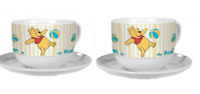 Set of 2 Winnie the Pooh Cups & Saucers