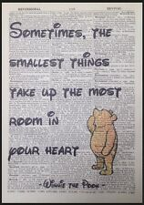 Winnie The Pooh Spruch Druck Vintage Wörterbuch Seite Bild Wandkunst Liebe Herz