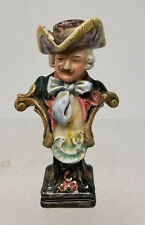 Antique Vintage European English Italian Capodimonte Enameled Figure Bust