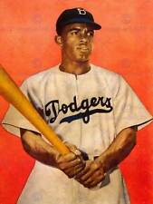 Ritratto JACKIE Robinson Da Baseball Di Brooklyn Dodgers NEW art print poster cc5365