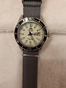 Orient Mako XL watch White face.