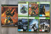 Halo Game Lot x6 & Guide Halo 1, 2, 3, 4 ODST, Reach - Microsoft Xbox 360 🎮 PAL