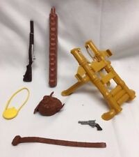 Vtg Big Jim Jungle Adventure CATAPULT + Marx Johnny West Hat Guns Belt PARTS