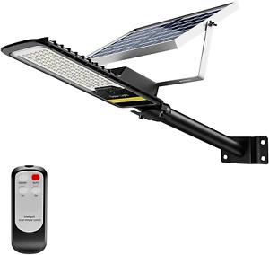 ENGREPO 80W Solar Street Lights Outdoor, 84 LEDs Security Flood Light Auto Dusk