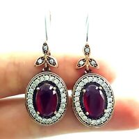 Jewelry Turkish Handmade Victorian 925 Sterling Silver Ladies Earrings E2711