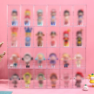 Display Case Box Storage Clear Plastic Organizer Doll Toy Dustproof Protection