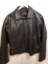 Vtg Camel Cigarettes Genuine Leather Zip Up Motorcycle Bomber Jacket ~ Large