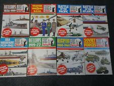 8 x purnells history of the world wars special colour magazines