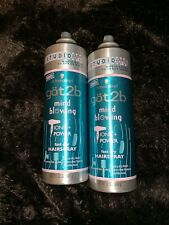 Lot of 2 Schwarzkopf got2b Mind Blowing Fast Dry Hairspray 12 oz x 2 Studio Size