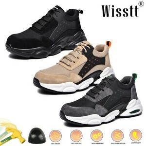 Men's Steel Toe Work Safety Sport Trainers Labor Hiking Boots ESD Sports Shoes