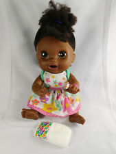 Baby Alive 2012 African American English Spanish Doll w Dress & Diaper