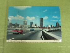 Vintage Post Card of La Ville vue de I'Autoroute Bonaventure