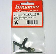 2400 Graupner Servo Horn Arm Tiller For 3mm Shafts New In Packet