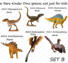 Pnso 6 rare kinder Dinosaurs Figures kids education set B model Archaeopteryx