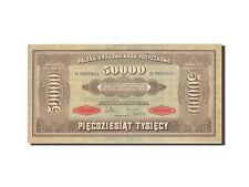 [#264345] Poland, 50,000 Marek, 1922-1923, KM:33, 1922-10-10, EF(40-45)