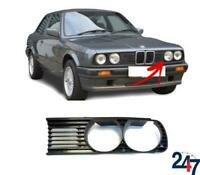 FRONT BUMPER UPPER GRILLE LEFT PART BLACK COMPATIBLE WITH  BMW 3 SERIES E30 -90
