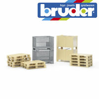 Bruder Pallet Crate Logistics Set Accessory Childrens Kids Toy Model Scale 1:16