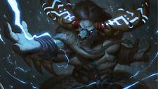 Video Game  World Of Warcraft Tauren Silk Poster Wallpaper 24 X 14 inch