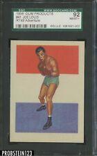 1956 Adventure Boxing #41 Joe Louis, The Brown Bomber SGC 92 NM-MT+