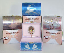 "New Treasure Chest Stlye Metallic Fairy Jewelry Music Box ""Swan Lake"" Tune+Box"