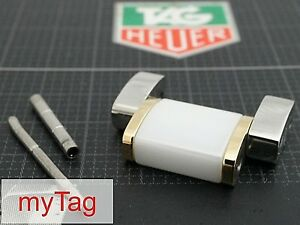 TAG Heuer F1  Steel/Ceramic /Gold Link 15mm BA0865  WAH1221 with Tube+Pin