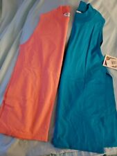 2 Russell Athletic Womens Workout Top Vintage 90s Era 2-Color Sleeve less New
