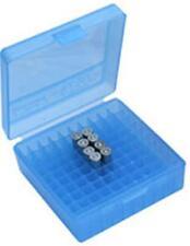 MTM Case-Gard Handgun Ammunition Ammo Storage Box 100 Round P-100-45 Clear Blue