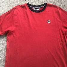 Mens Fila Red T Shirt Top Size Large