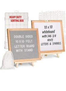 Felt Letter Board With Whiteboard On Back 2-in-1 Gift Set Shipped within 48hours