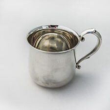 Webster Baby Childs Cup Scroll Handle Sterling Silver No Mono