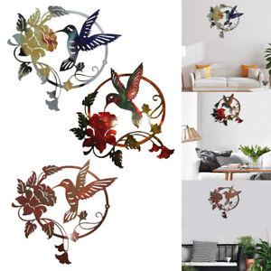 Bird Wall Decor Hanging Sculpture for Home Office Garden Indoor Outdoor