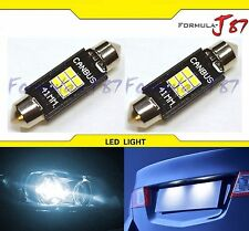 LED Light Canbus Error Free 211-2 White 6000K Two Bulbs Dome Map Step Festoon