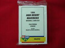 1994 HIGH DESERT MAVERICKS MINOR LEAGUE TEAM SET FLEER PROCARDS FACT. SEAL NICE