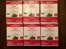 NIB Holiday Time LOT OF 6 Boxes 100 Clear Mini Christmas Wedding Holiday Lights
