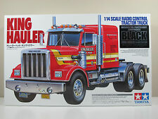 New in Open Box Tamiya 56336 BLACK EDITION 1/14 RC KING HAULER TRACTOR TRUCK KIT